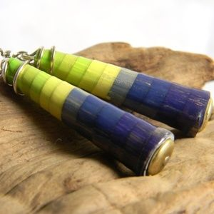 Boho Handmade Paper Bead Earrings